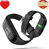 Keoker H3 Bluetooth Smart Band Bracelet Heart Rate Monitor Activity Fitness Tracker Wristband for IOS & Android Smartphone (Black)