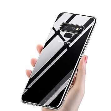 Funda Samsung Galaxy Note 9, Mixigoo Note 9 Carcasa Funda Protectora Crystal TPU Case Antideslizante Rasguño Resistente Delgado Silicona Case Cover ...