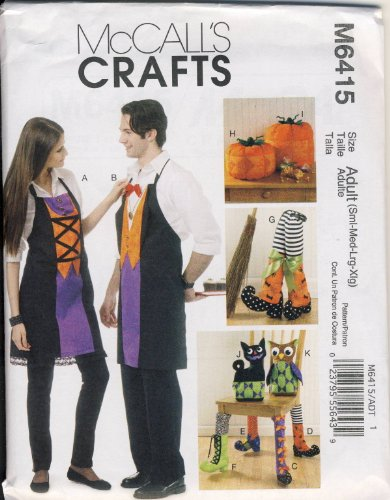 McCall's Patterns M6415 Aprons, Chair Decorations, Boots, Pumpkins, Cat and Owl -
