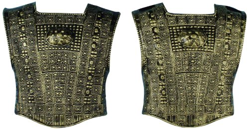 Forum Roman Chest Plate Costume Armor, Gold, One Size