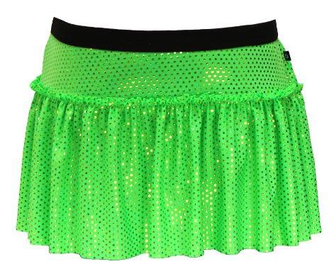 Disney Marathon Running Costumes (Neon Lime Specialty Sparkle Running Skirt M)