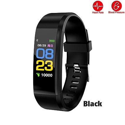 WANGLAI Reloj Impermeable para Ejercicios, Monitor de Ejercicios en Color, rastreador de Actividades con calorías de Ritmo cardíaco Monitor de sueño ...