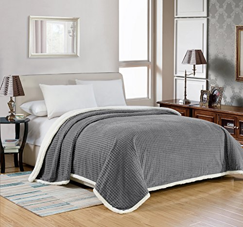 Noble House Elite Soft & Comfortable Sherpa Over-Sized Blanket King 102