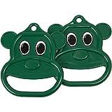 Swing Set Stuff Bear Trapeze Rings with SSS Logo Sticker, Green