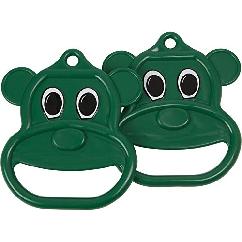 Swing Set Stuff Bear Trapeze Rings with SSS Logo Sticker, Green Swing Set Stuff - DROPSHIP SSS-0029-G