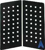 Astrodeck 409 Front Foot Black Grip-Lock - 2 Pieces