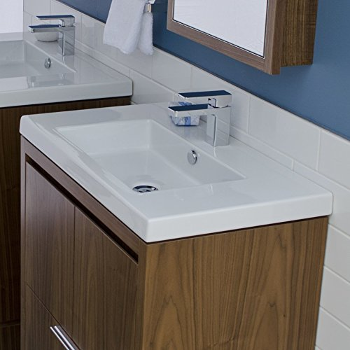 Wall-mount, vanity top or self-rimming porcelain lavatory with an overflow. 03 - three faucet holes in 8