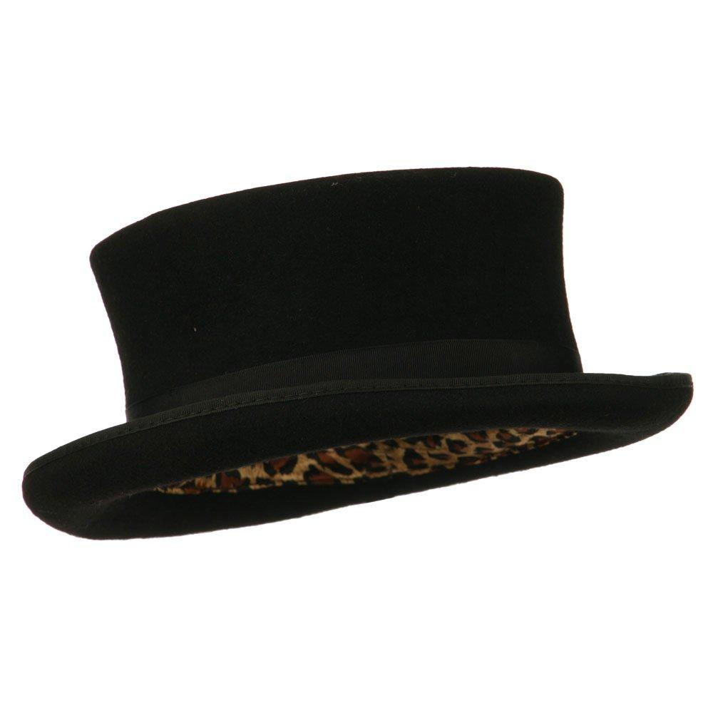 b5d8142755663 Men s Top Hat Wool Felt Hat - Black at Amazon Men s Clothing store