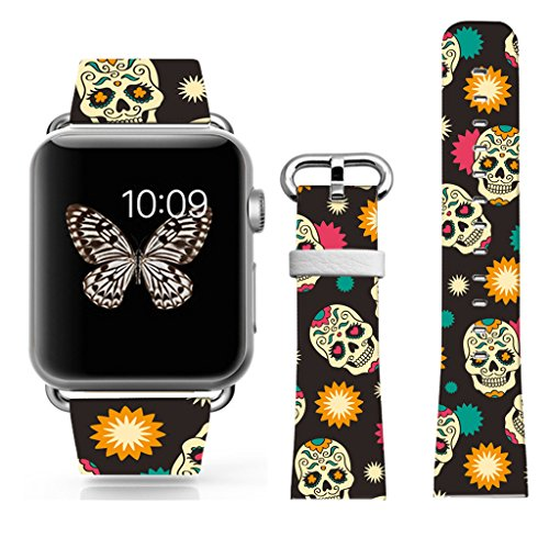 Apple Watch Band 42mm, Iwatch Bands With Colorful And Vintage Floor Pattern