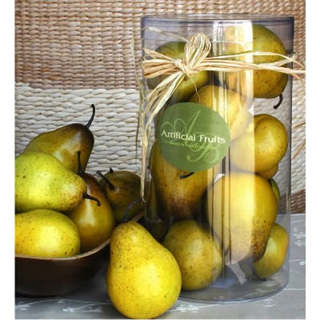 A Lot of 2 Artificial Faux Fake Fruit Pear by FantasticDecor