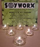100 Soy Tealights By Soyworx Unscented All Natural Color Tea Light Candles