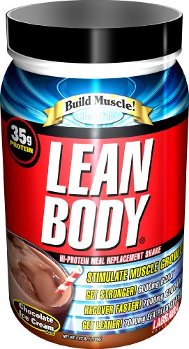 Nutrition Labrada Lean Body Salut-Protein secousse substitut de repas, crème glacée au chocolat, 2,47 Tub Pound