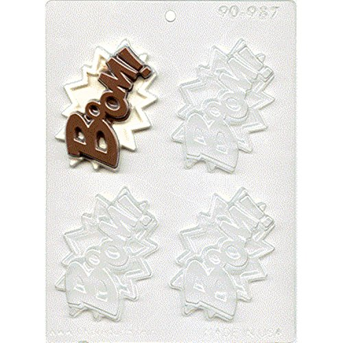 BOOM Superhero Chocolate Mold - CK Products - 90-987 - Includes Melting & Chocolate Molding Instructions