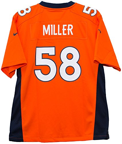 Nike Von Miller Denver Broncos Orange Game Youth NFL Jersey (Youth Large 14-16)