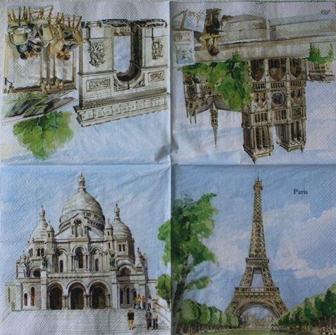 Napkins Decoupage #17 33x33 Cm. 2 Sheets/design 5 Designs Total 10 Sheets
