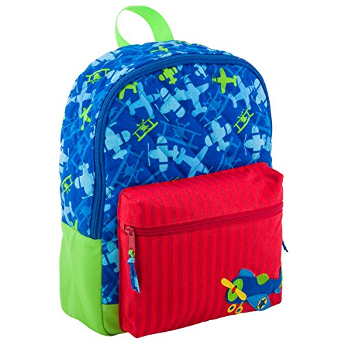 Stephen Joseph All Over Print Quilted Rucksack, airplane