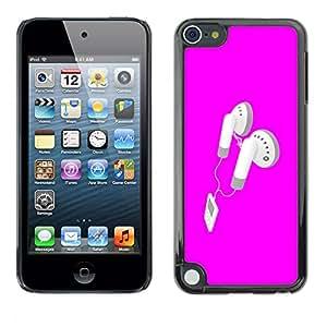 Cubierta protectora del caso de Shell Plástico || Apple iPod Touch 5 || Rosa Auriculares @XPTECH