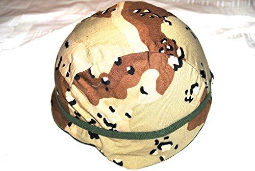 Genuine Us Marine Corps Usmc Helmet With Chocolate Chip Cover - Medium -