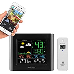 With a basic weather station from La Crosse Technology, all of your necessary weather data will be there at a glance. which makes planning your day's events a whole lot easier. Our Essential color weather Stations always remain a customer fav...