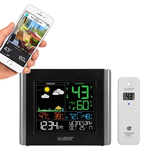 La Crosse Technology V10-TH-INT V10-TH Wireless WiFi Weather Station (Best Home Weather Station Wifi)