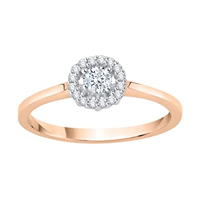 4f27a7a1b81 KATARINA Diamond Cluster Engagement Ring in 14K Gold (1 4 cttw