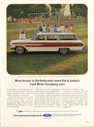 Ford Country Squire wagon population explosion ad ()