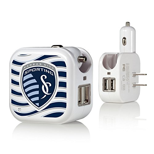 Sporting Kansas City 2 in 1 USB Charger - City In Outlet Kansas Stores