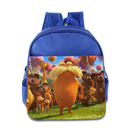 Retro Dr. Seuss' The Lorax School Bag School Backpack For Girls, Boys, Kids, Students-RoyalBlue