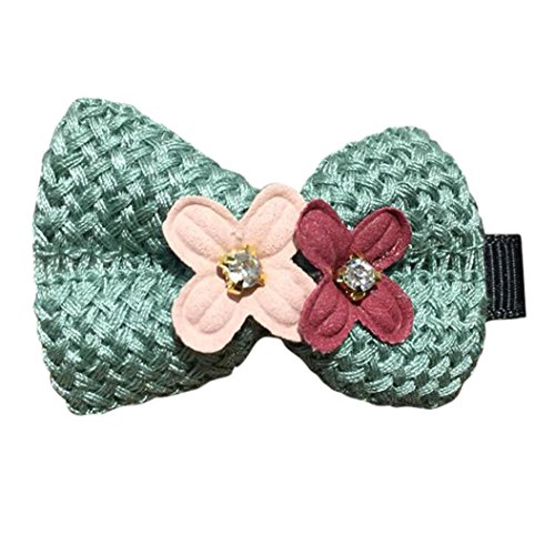 [Mikey Store 2PCS Hair Clips Girls Princess Bowknot Flowers Hair Style Buckle (Green)] (Old Navy Halloween Costumes Elephant)