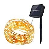 InnooLight Solar Starry String Lights 33 Feet Copper Warm White 100 Led Outdoor