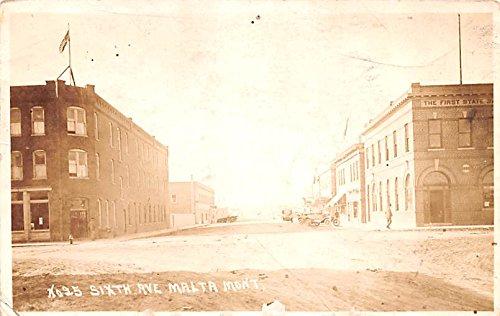 - Sixth Avenue Malta, Montana postcard