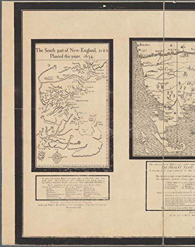 Vintography Reprinted 18 x 24 1846 Map of Boston A New Chart of The Coast of America from Philadelphia to Halifax Harbor Wm. B. Fowle 0 0 79a by Vintography