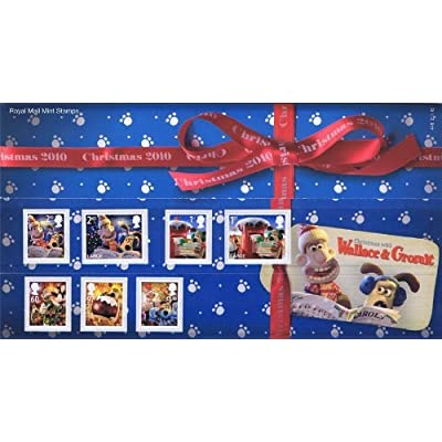 2010 Christmas with Wallace and Gromit Stamps in Presentation Pack by Royal Mail