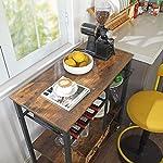 VASAGLE ALINRU Kitchen Cart, Kitchen Baker's Rack, Utility Storage Shelf with Bottle Holder, Industrial Microwave Stand…