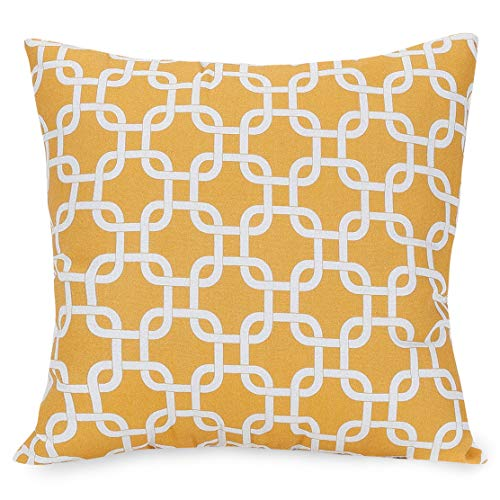 Majestic Home Goods Pillow, X-Large, Links, Yellow (Link Pillow)