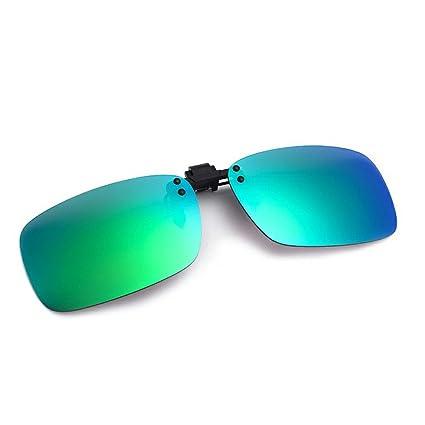 Cyxus Lunettes de soleil à verres rectangulaires à effet miroir polarisées avec verres correcteurs à clipser anti-reflet et protectionUV WIO4T