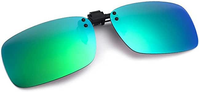 Cyxus Flash Polarized Mirrored Sunglasses Clip-On Glasses, Men & Women [Green Flash]