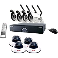 REVO America R165WB4ED4E-2T 16 CH 2 TB DVR Surveillance System with 4 Wireless Bullet Cameras and 4 Wired Dome Cameras (Black)