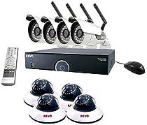 REVO America R165WB4ED4E-2T 16 CH 2 TB DVR Surveillance System with 4 Wireless Bullet Cameras and 4 Wired Dome Cameras (Black)