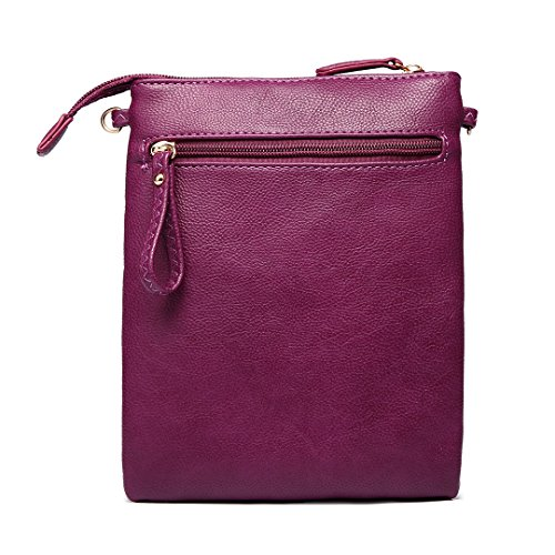 Shoulder Girls Miss 1417 Lulu Leisure Bag for Crossbody Women Fashion Pouch Purple zIqBvpIr