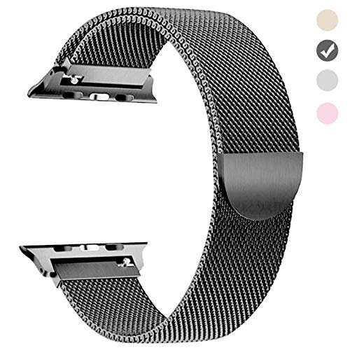 yamen Compatible for Apple Watch Band 42mm 44mm Milanese Loop for iwatch Band Series 2 Series 3 Series 4 Space Gray