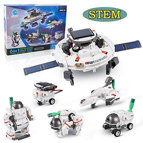 Ciro 6 in 1 Space Solar Robot Kit , Educational Learning Science Building Toys, Stem Projects for Kids Age 8+ Years Old…