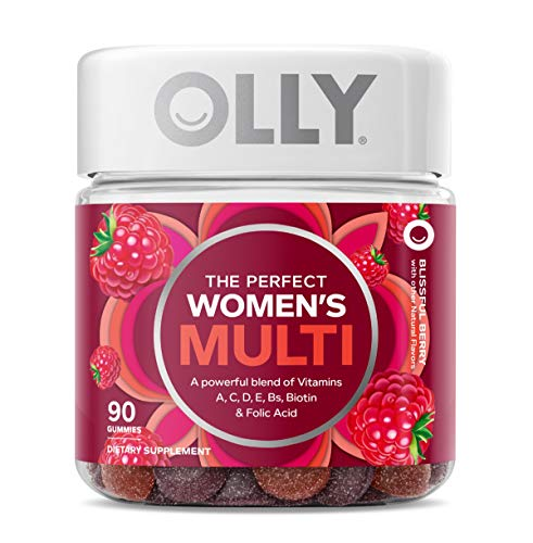 OLLY Women's Multivitamin Gummy, Vitamins A, D, C, E, Biotin, Folic Acid, Chewable Supplement, Berry Flavor, 45-Day…
