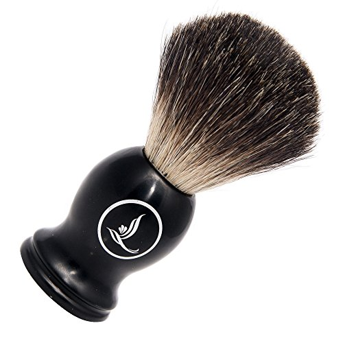 Latherwhip Badger Hair Shaving Brush - Luxurious Badger Bristle with Masterfully Crafted 22mm Knot and Black Resin Handle in Stunning GiftBox (Open Hair Brush compare prices)
