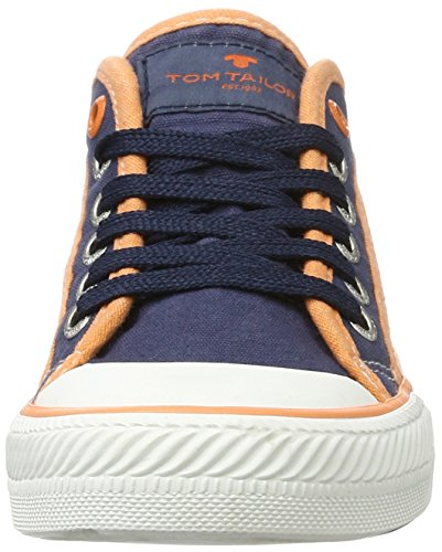 TOM TAILOR Kids Jungen 2772903 Low-Top Sneaker Blau (navy-orange)