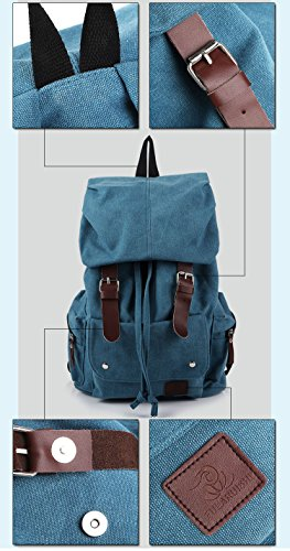 Yokeeyoo - Bolso al hombro para hombre azul azul Free marrón
