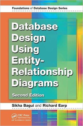 Database design using entity relationship diagrams foundations of database design using entity relationship diagrams foundations of database design sikha bagui richard earp 9781439861769 amazon books ccuart Images