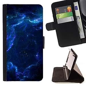 Momo Phone Case / Flip Funda de Cuero Case Cover - Azul Glas Nube Galaxy Estrellas Planetas Universo - Samsung Galaxy S6