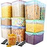 [10 Packs]Food Storage Containers,MCIRCO Airtight Flour Containers Pantry Storage Containers