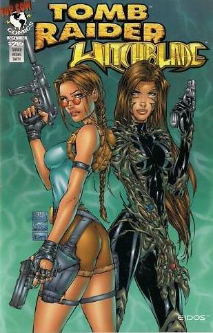 Amazon Com Tomb Raider Witchblade 1 Cover Price 2 95 Green